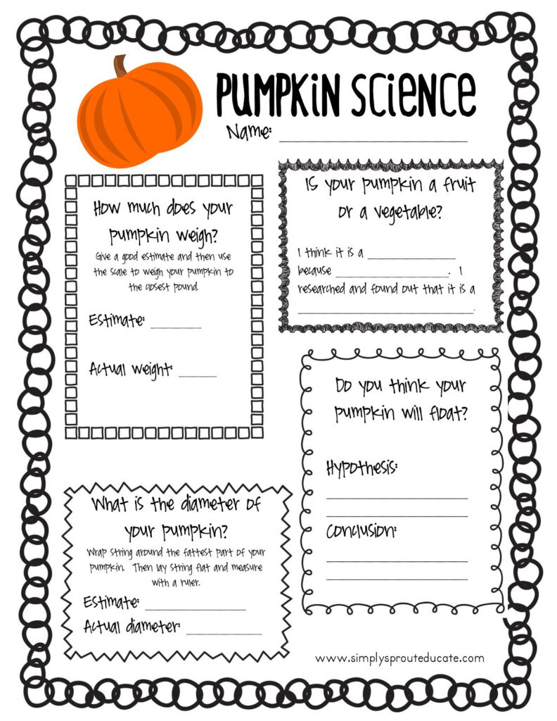 Simply Sprout: Free Printable Halloween Science   Pumpkin