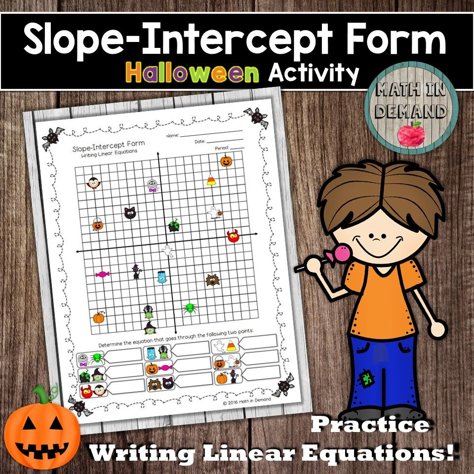 Slope Intercept Form Halloween Activity (Writing Linear