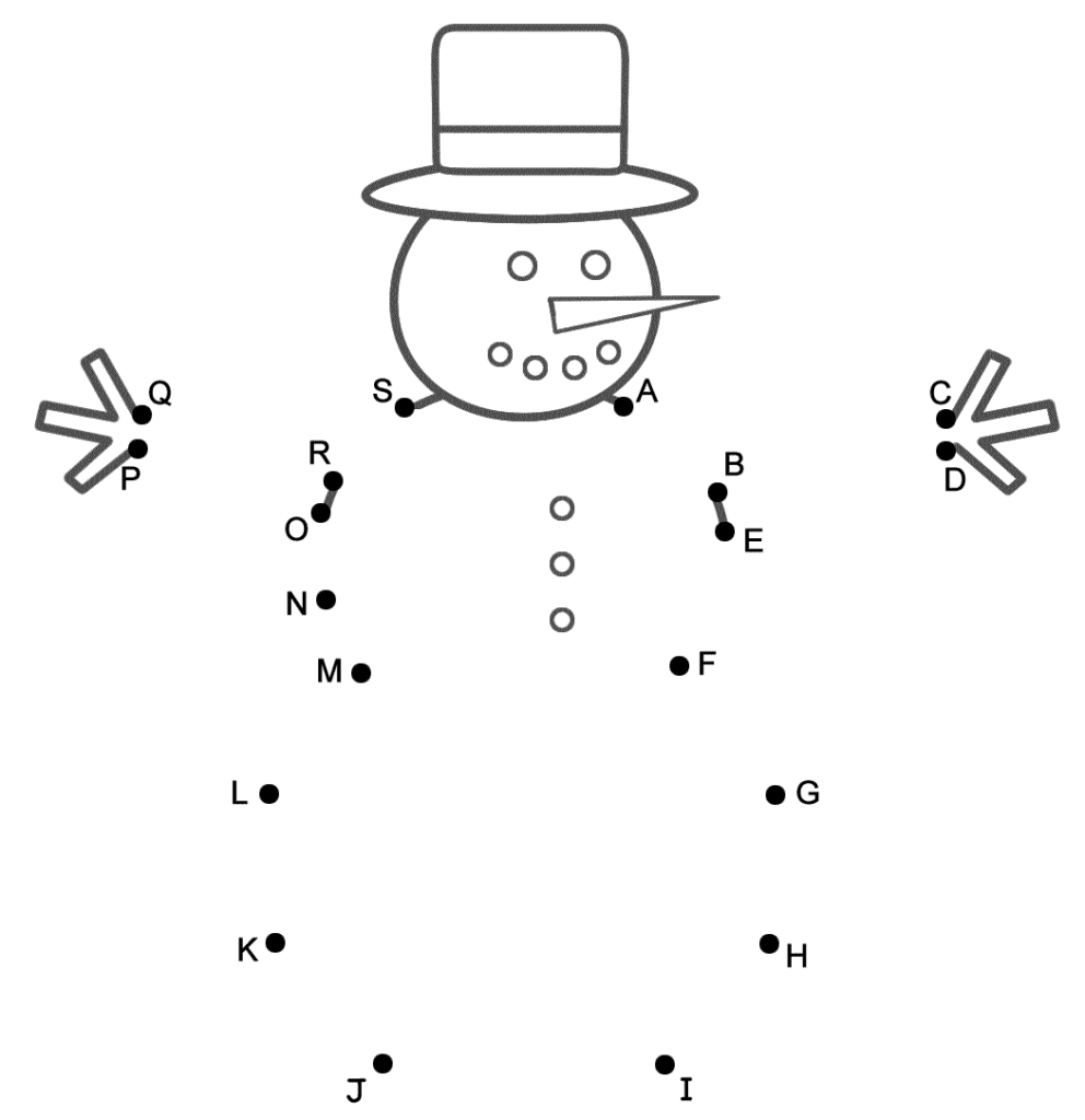 Snowman   Connect The Dotscapital Letters (Christmas)
