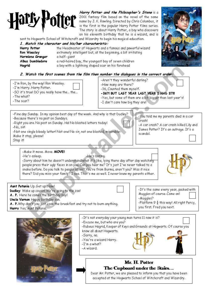 Some Info About The Film, An Easy Activity About The Main