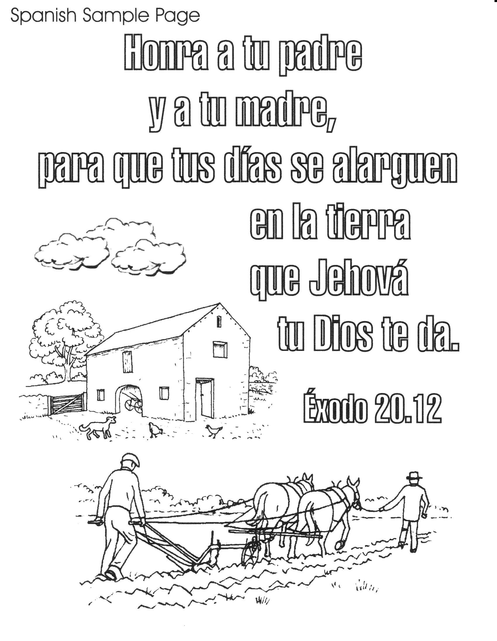 Spanish 1,700×2,192 Pixels | Christian Coloring Book