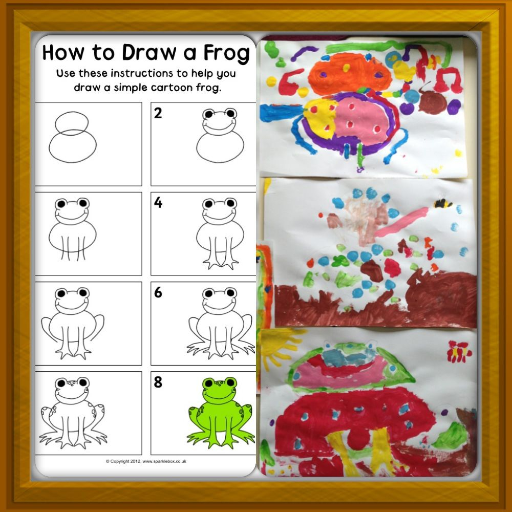 Sparklebox How To Draw A Frog Pdf And My Children's Work In