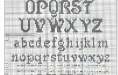 Cursive Alphabet Knitting