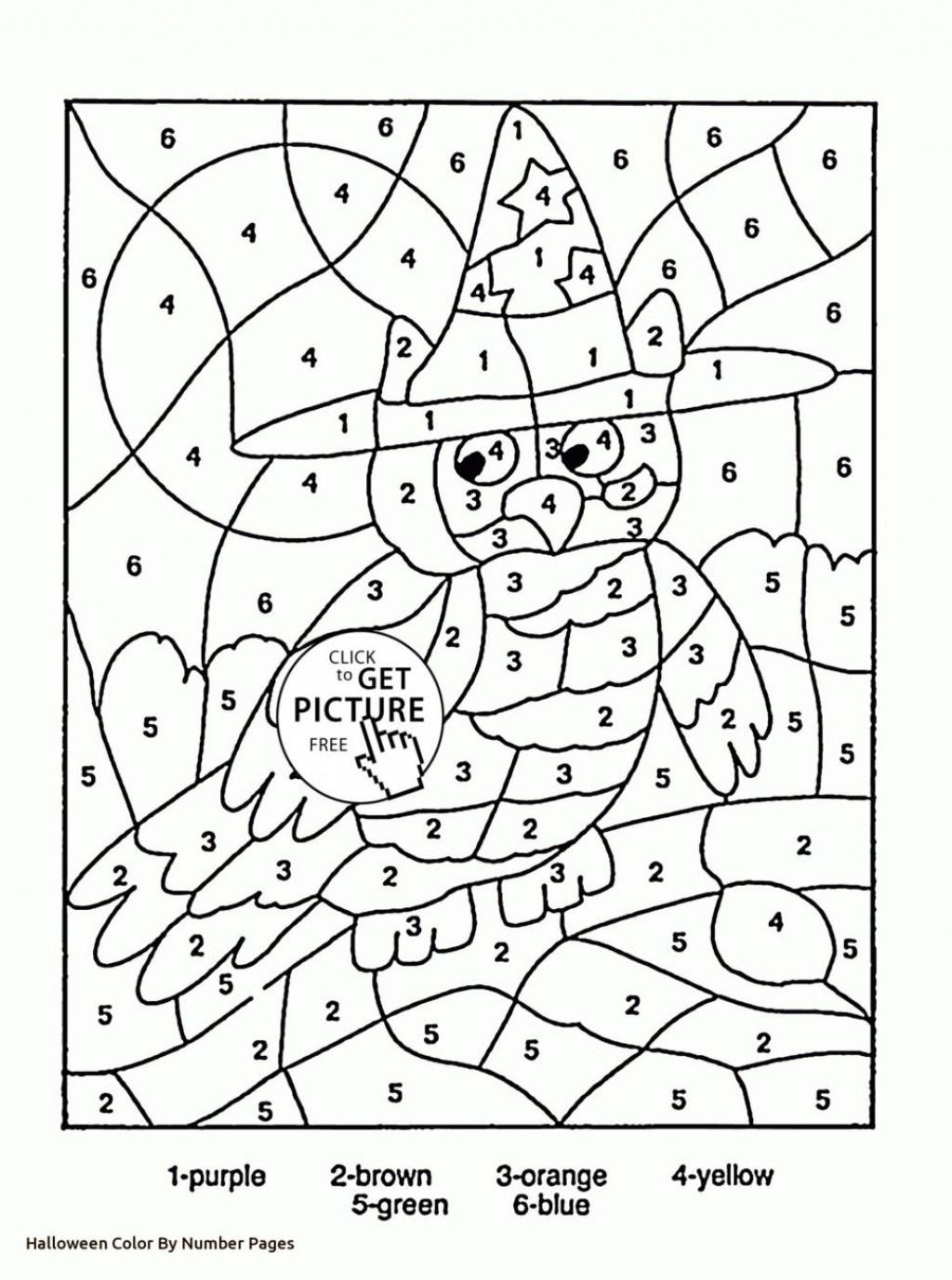 Splendi Halloween Multiplication Coloring Worksheets