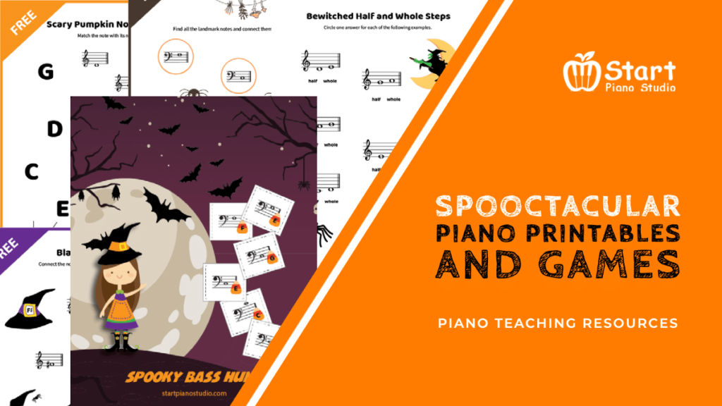 Spooktacular Piano Printables For Your Halloween Week