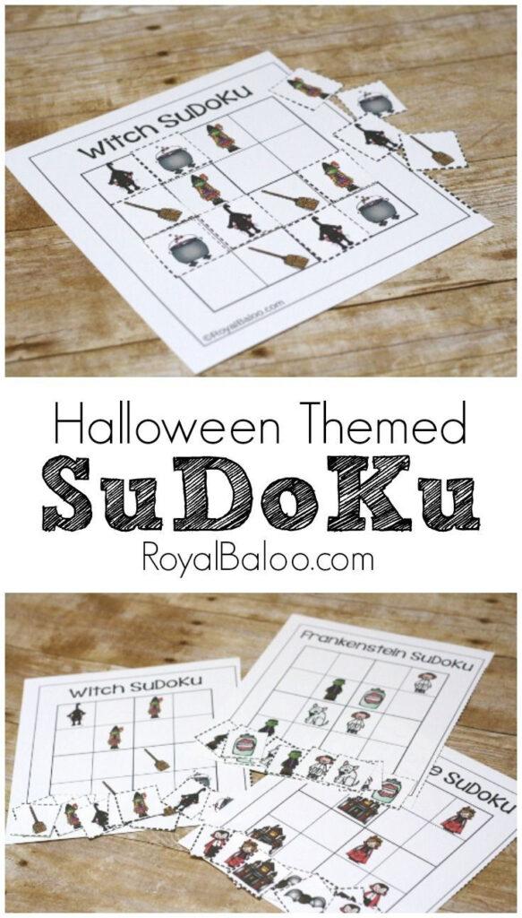 Spooky Halloween Sudoku Free Printable For Kids   Royal