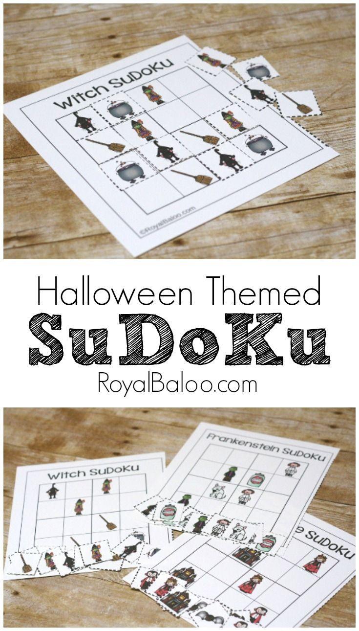 Spooky Halloween Sudoku Free Printable For Kids - Royal