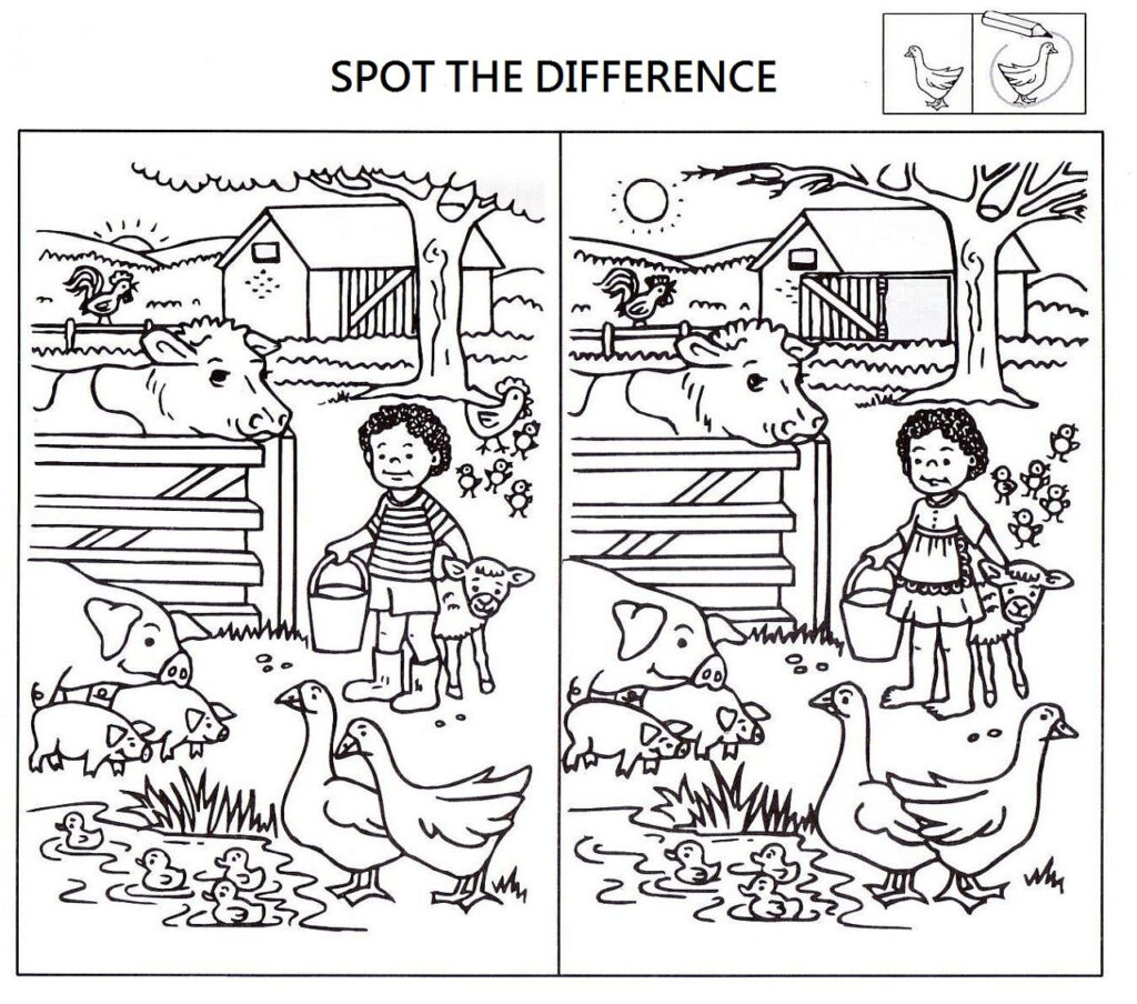 Spot The Difference Worksheets For Kids Find Printable Math