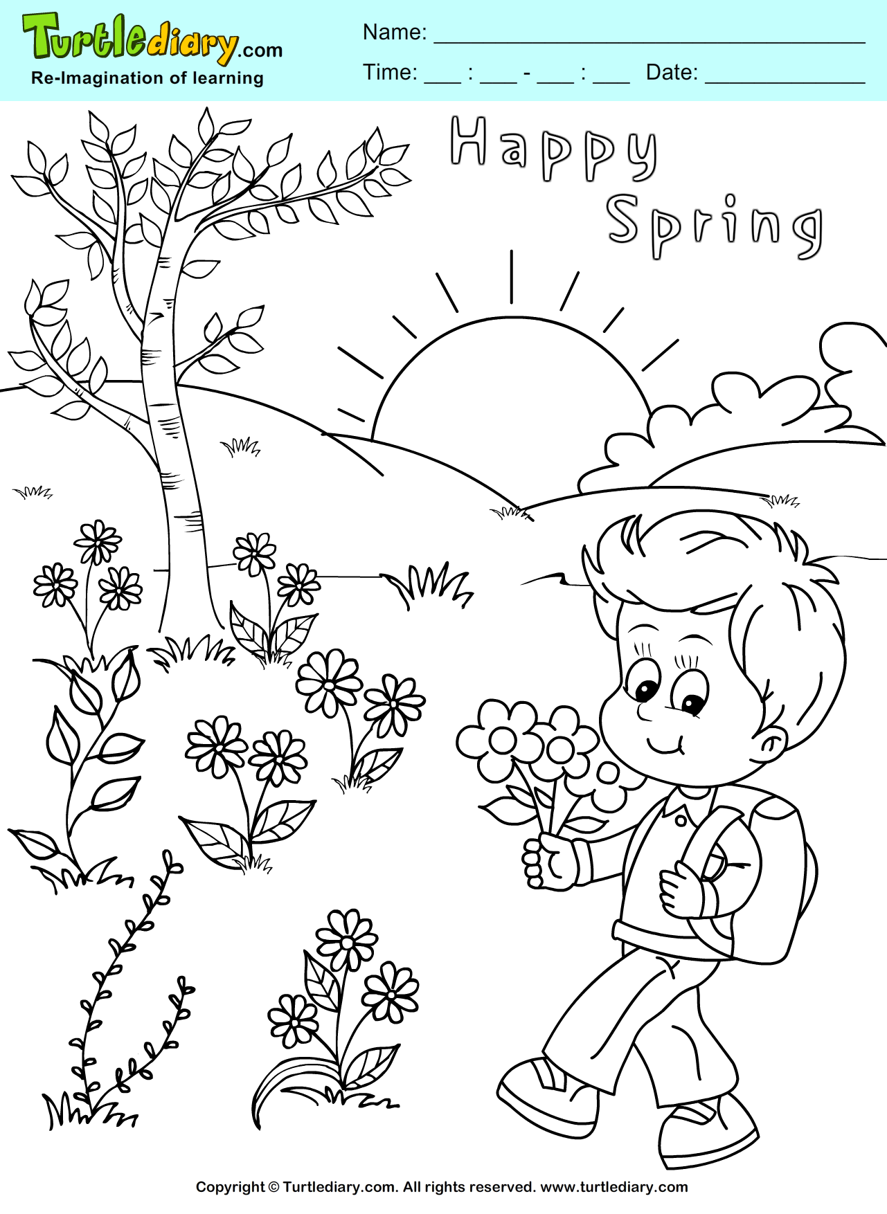 Spring Coloring Page Coloring Sheet | Spring Coloring Pages