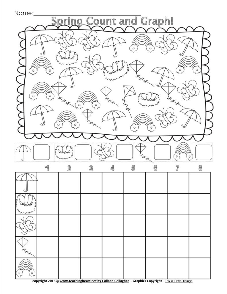 Spring Count And Graph   Free   Teaching Heart Blog | Spring
