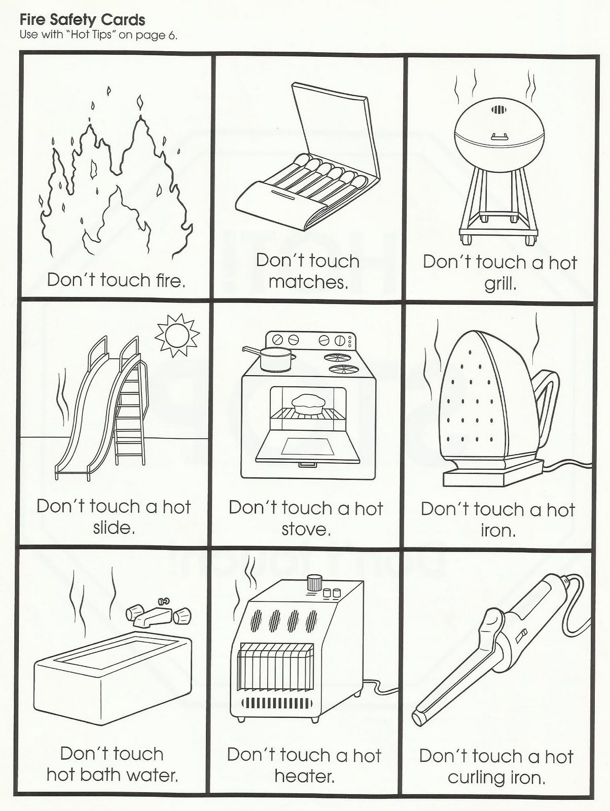 Squish Preschool Ideas: Fire Safety | Fire Safety Worksheets