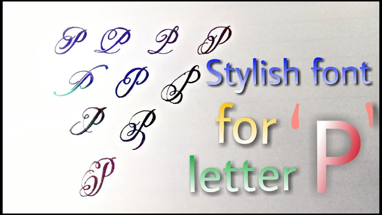 Stylish Font For Letter 'p' || How To Improve Your Handwriting