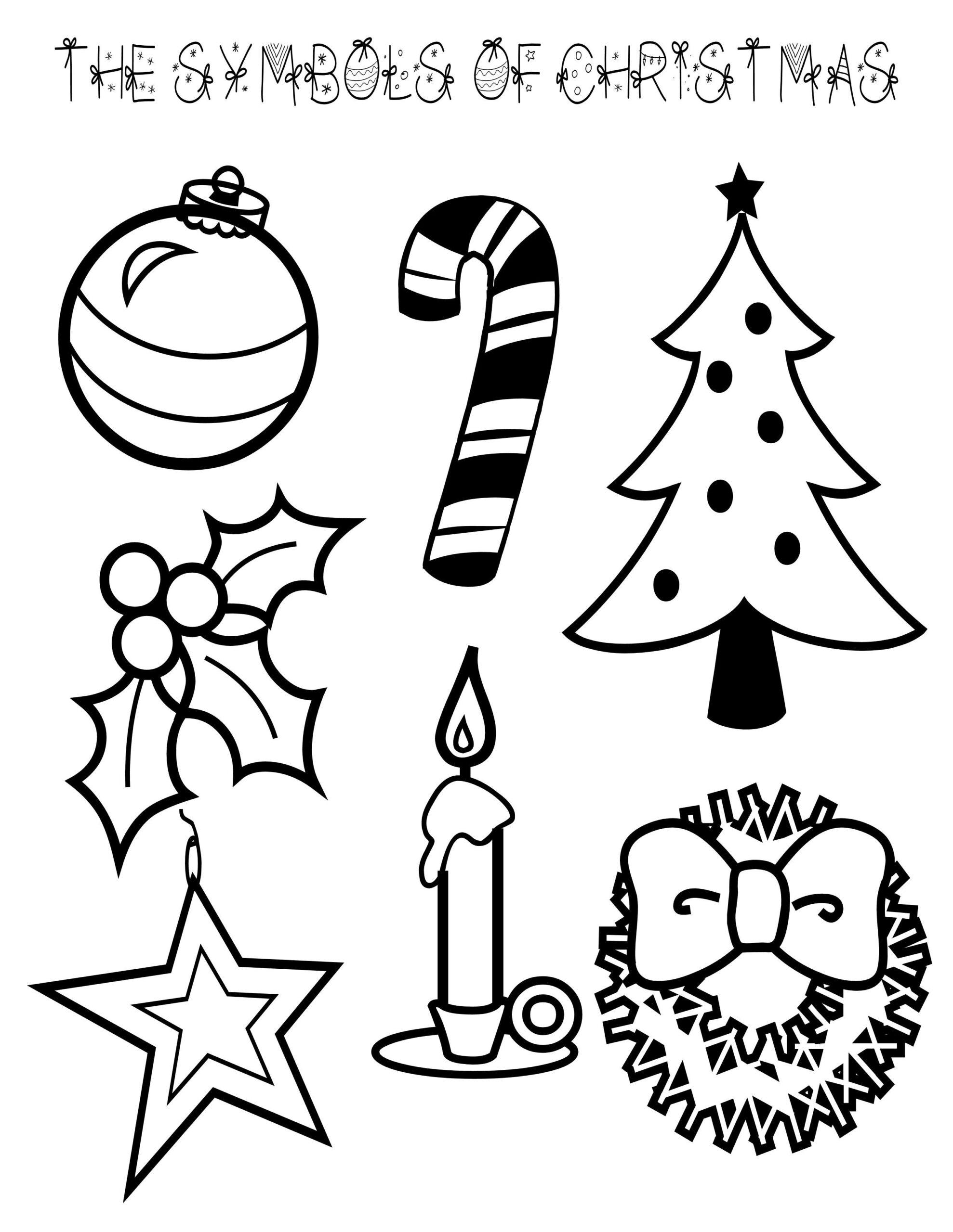 Symbols Of Christmas Coloring Page   Christmas Colors