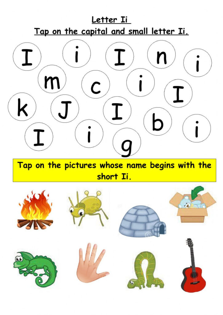 Tap On The Capital And Small Letter Ii Worksheet With Regard To Letter Ii Worksheets
