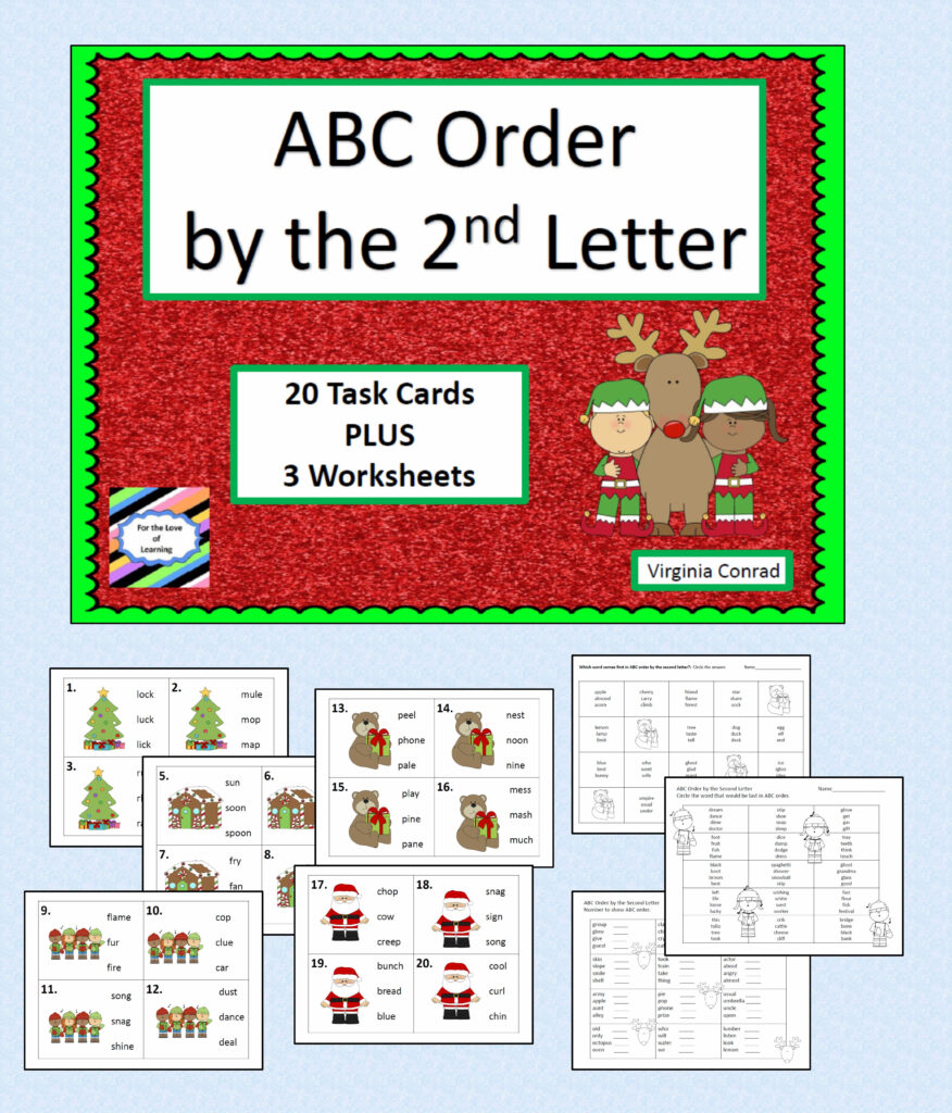 Task Cards And Worksheets For Alphabetizing Wordsthe