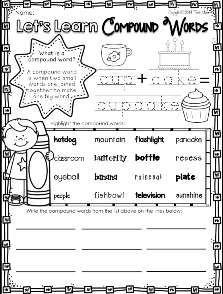 Teach Your Students All About Compound Words With This No