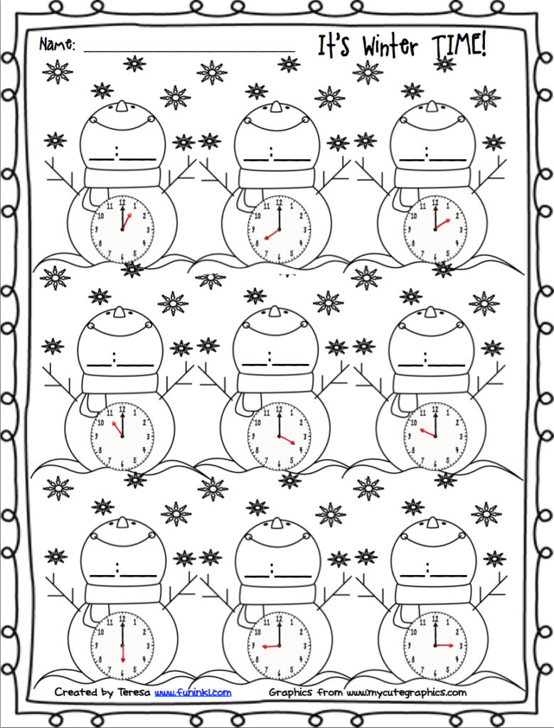 Teaching Blog Round Up: It's Winter Time!   Winter Math
