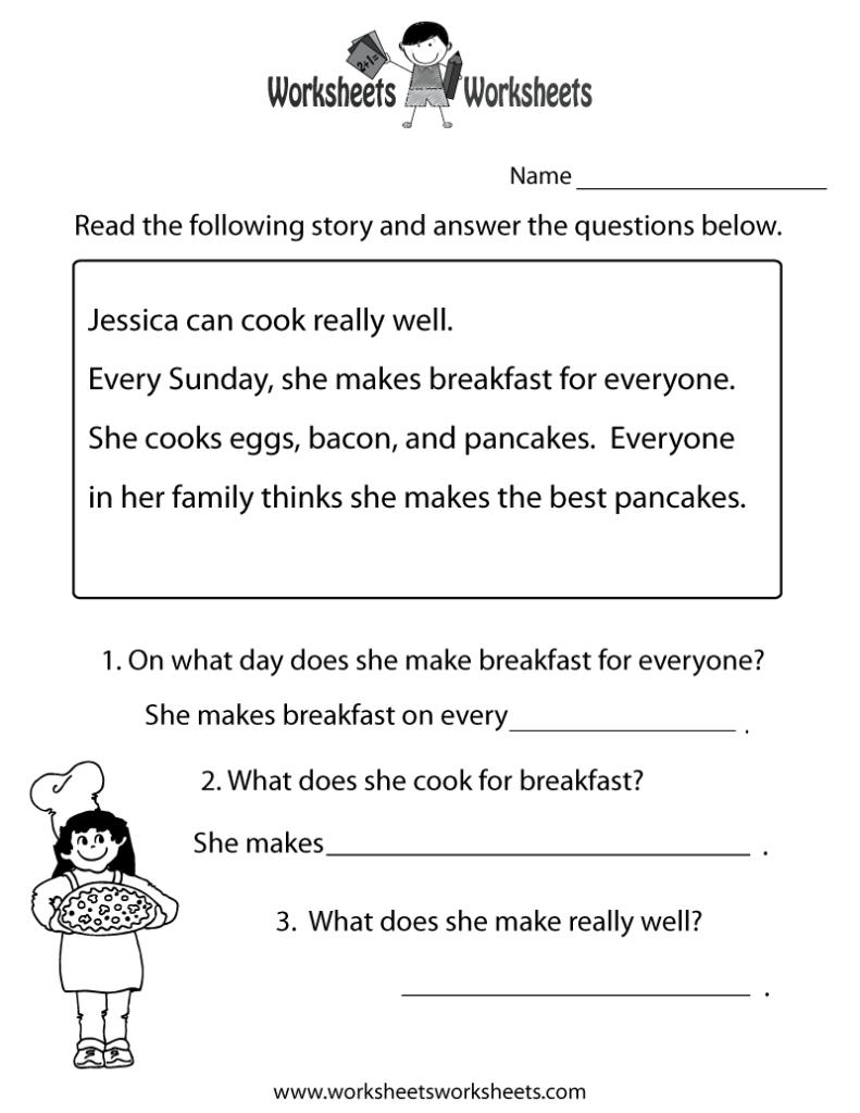 Thanksgiving Reading Comprehension 2Nd Grade