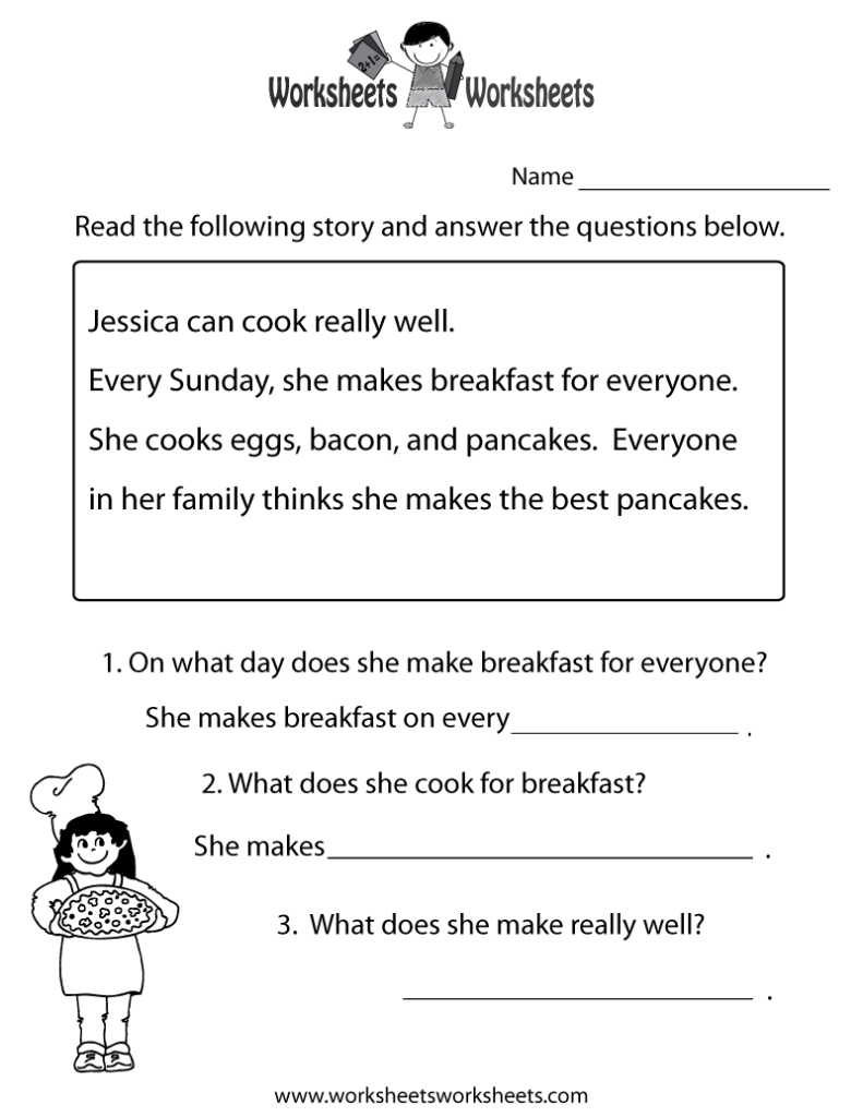 Thanksgiving Reading Comprehension 2Nd Grade