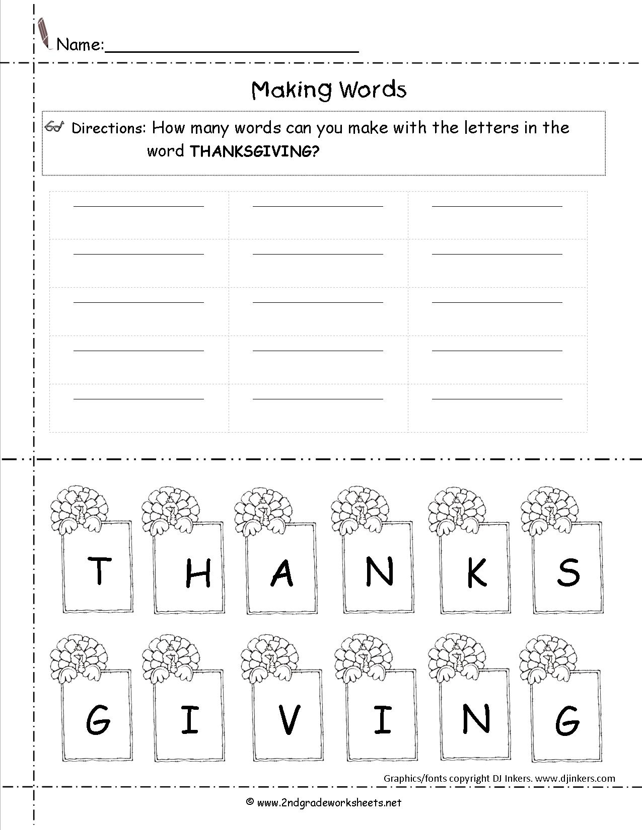 Thanksgiving Scramble Worksheets | Printable Worksheets And