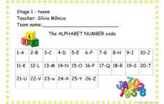 Alphabet Code Worksheets Free