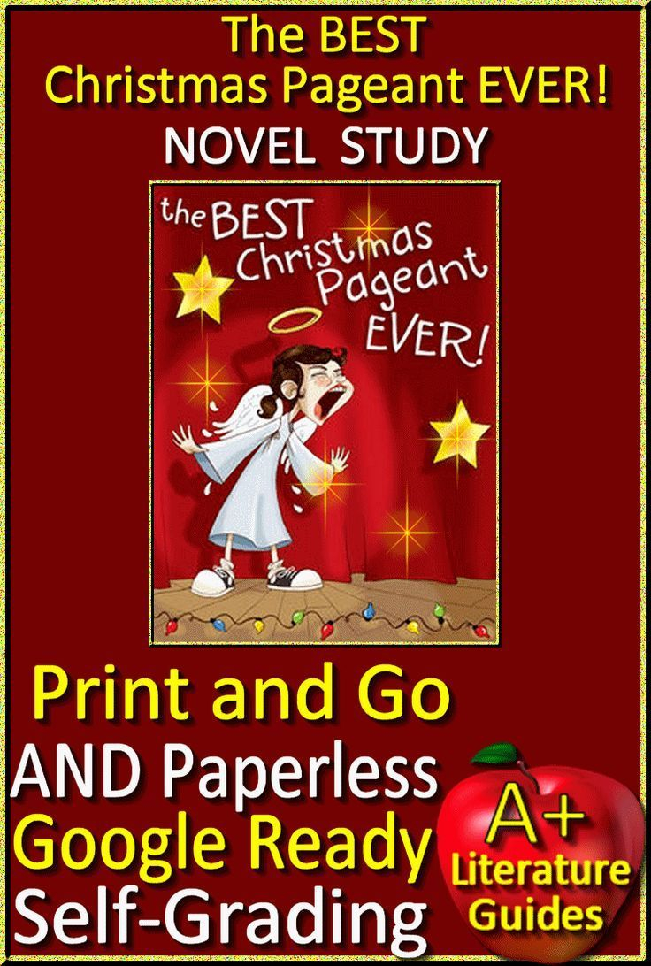The Best Christmas Pageant Ever Novel Study Printable+