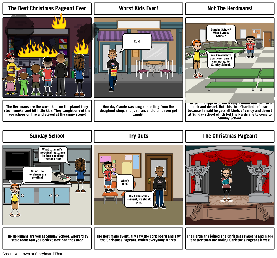 The Best Christmas Pageant Ever Storyboard111111111234567890