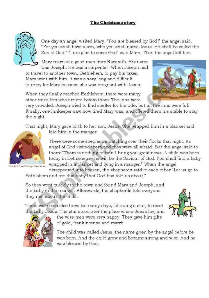 The Christmas Story   Esl Worksheetmissjane 6