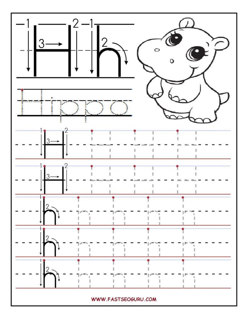 The Letter H Preschool Worksheet : Brian Molko Within Letter H Worksheets For Preschool