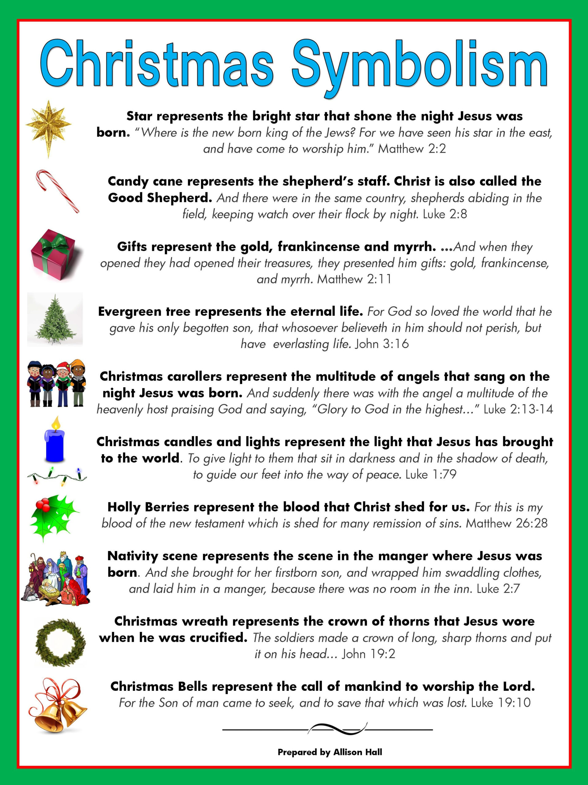 The Meaning Of Christmas Symbols | Christmas Poems