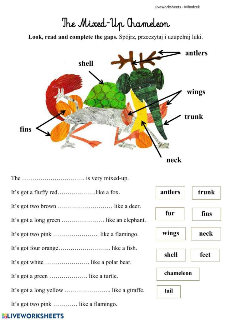 The Mixed Up Chameleoneric Carle Worksheet