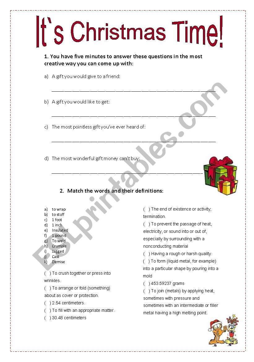 The Moleskin Pants - Unusual Christmas Gifts - Esl Worksheet
