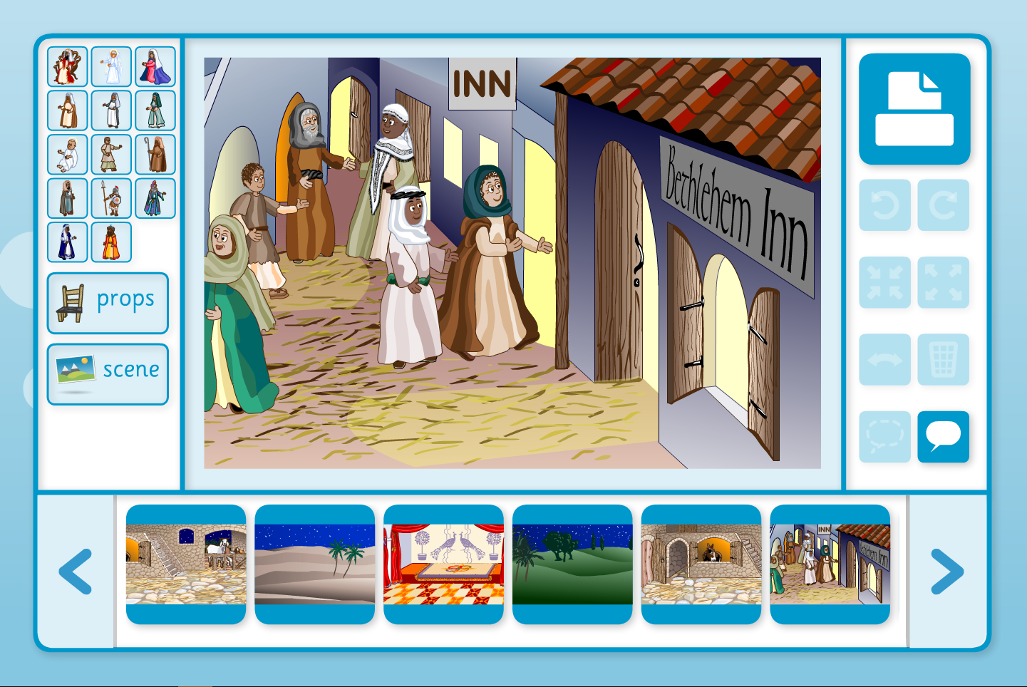 The Nativity Story Scene Focus - Interactive Activity - Christmas Ks1