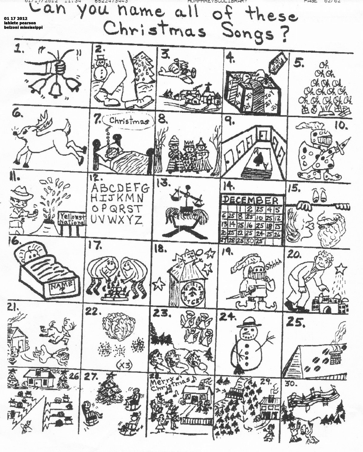 The Original Puzzle | Christmas Worksheets, Christmas Song