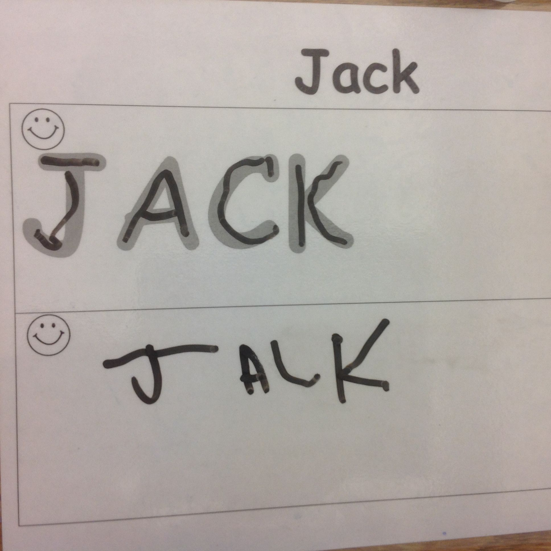 The Preschool Puppies | Preschool Writing, Writing Without for Name Tracing Jack