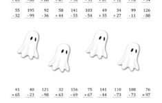 Free Printable Halloween Subtraction Worksheets