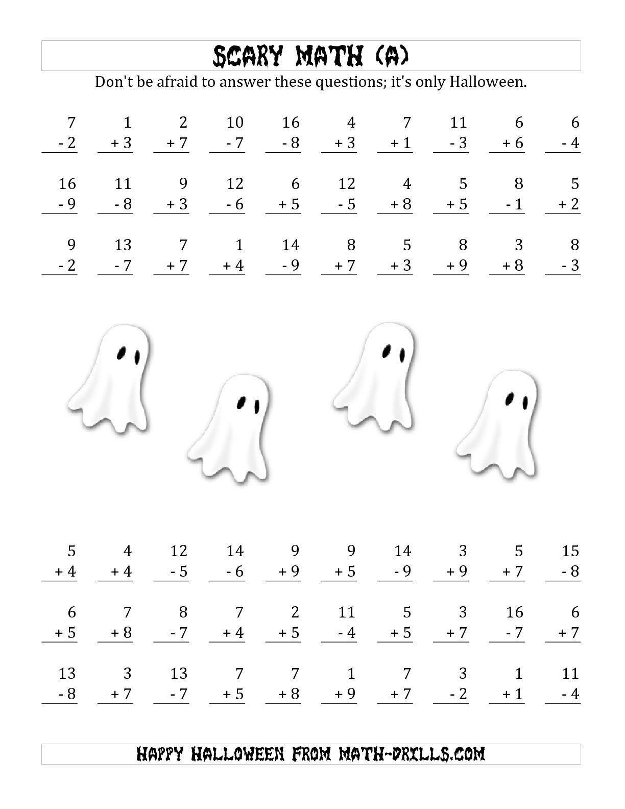 The Scary Addition And Subtraction With Single-Digit Numbers