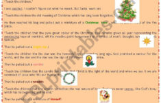 Meaning Of Christmas Worksheet