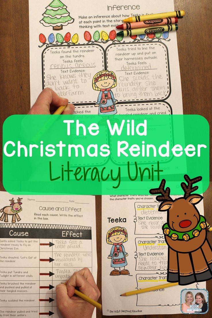 The Wild Christmas Reindeer Mini Literacy Unit Aligned With