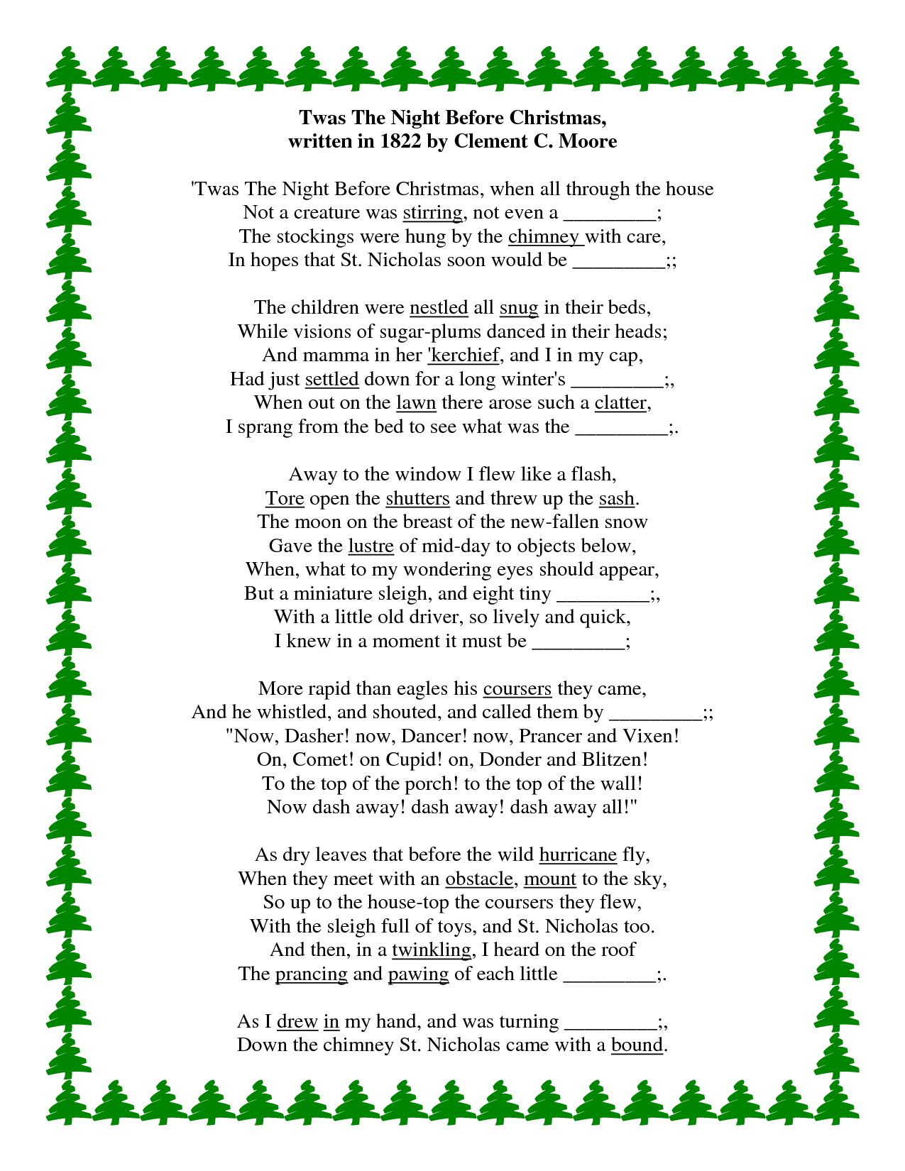 The Words To Twas A Night Before Christmas - Google Search