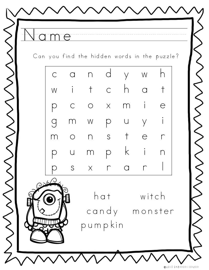 These 5 Halloween Themed Worksheets Are A Wonderful Time