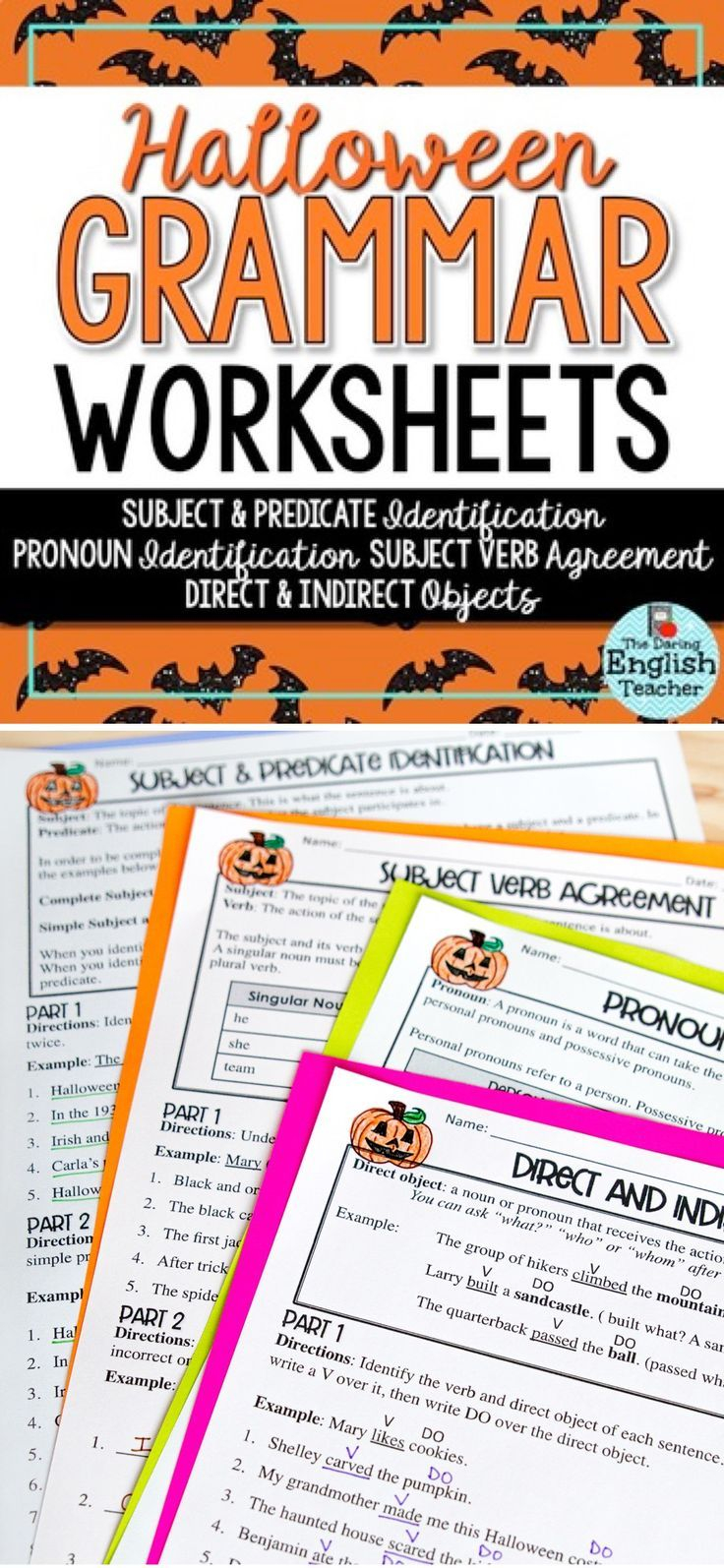 These Halloween-Themed Grammar Worksheets Are Perfect For
