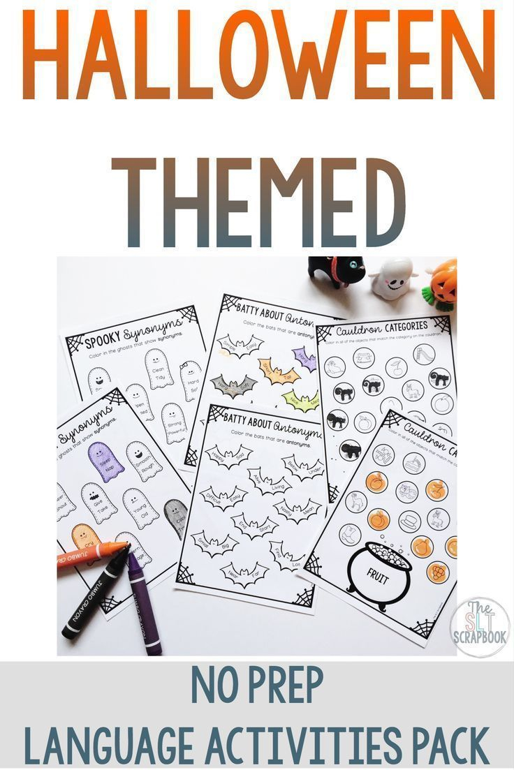 These No Prep Halloween Themed Worksheets Make October