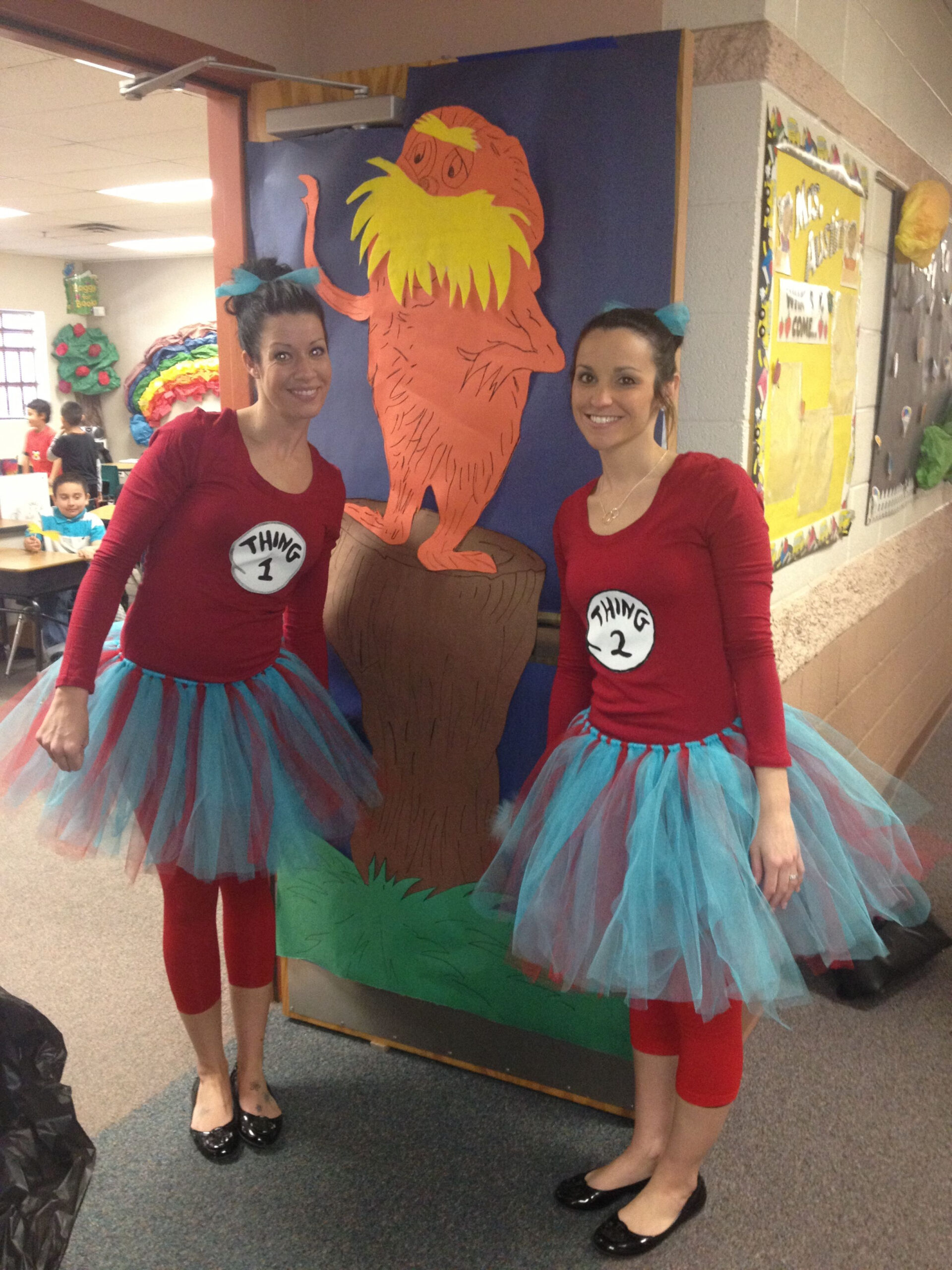Thing 1 And Thing 2 | Teacher Halloween Costumes, Halloween