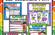 This Alphabet Mega Bundle Qld Beginners Font Includes A
