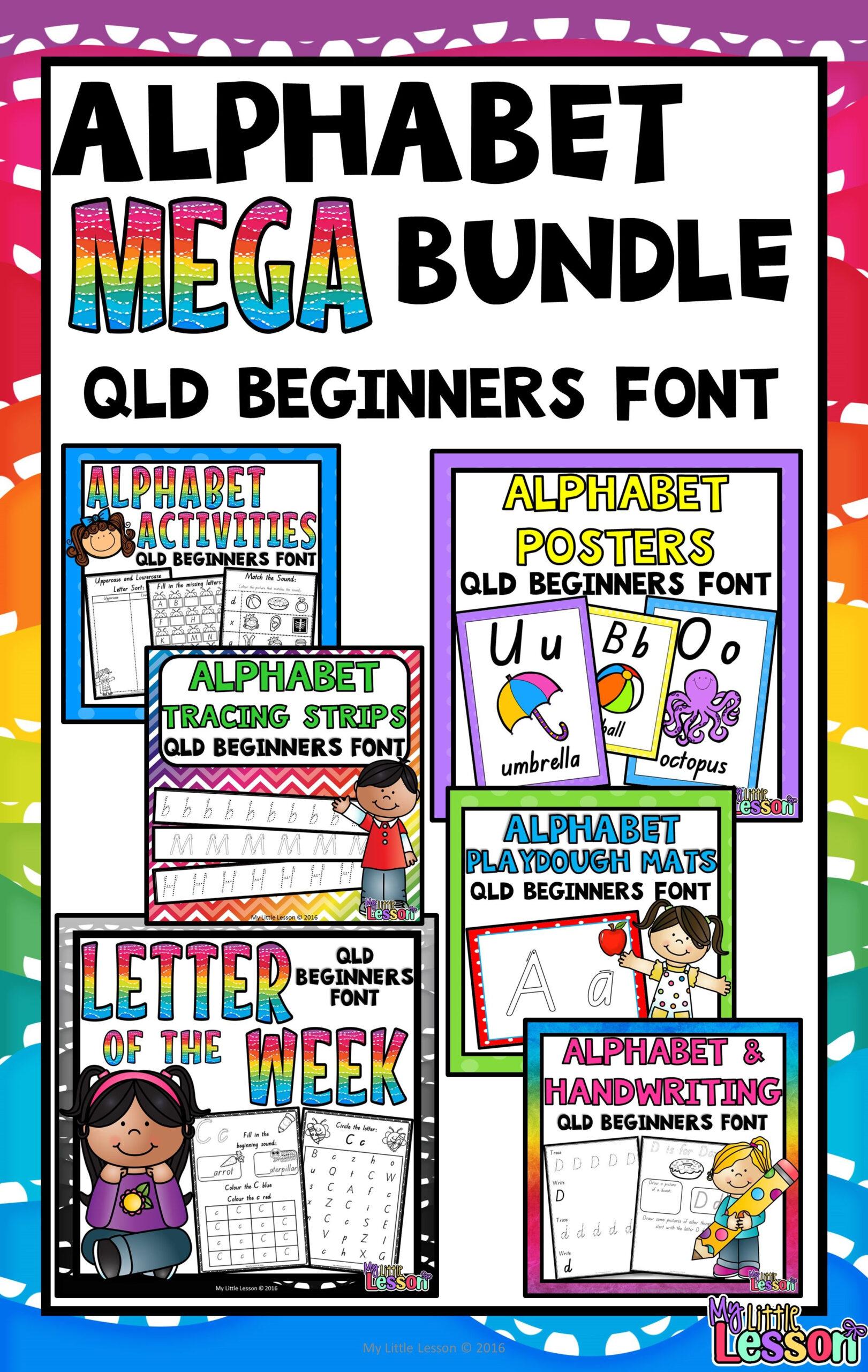 This Alphabet Mega Bundle Qld Beginners Font Includes A