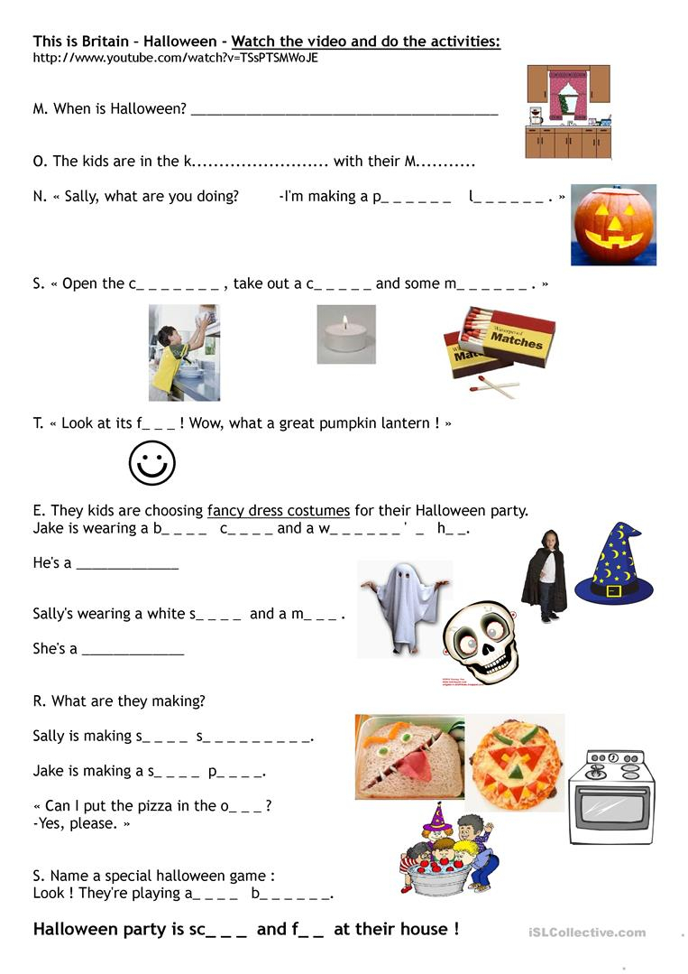 This Is Britain - Halloween - English Esl Worksheets For