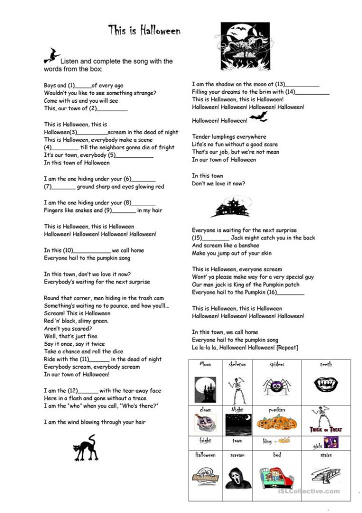 This Is Halloween   English Esl Worksheets For Distance