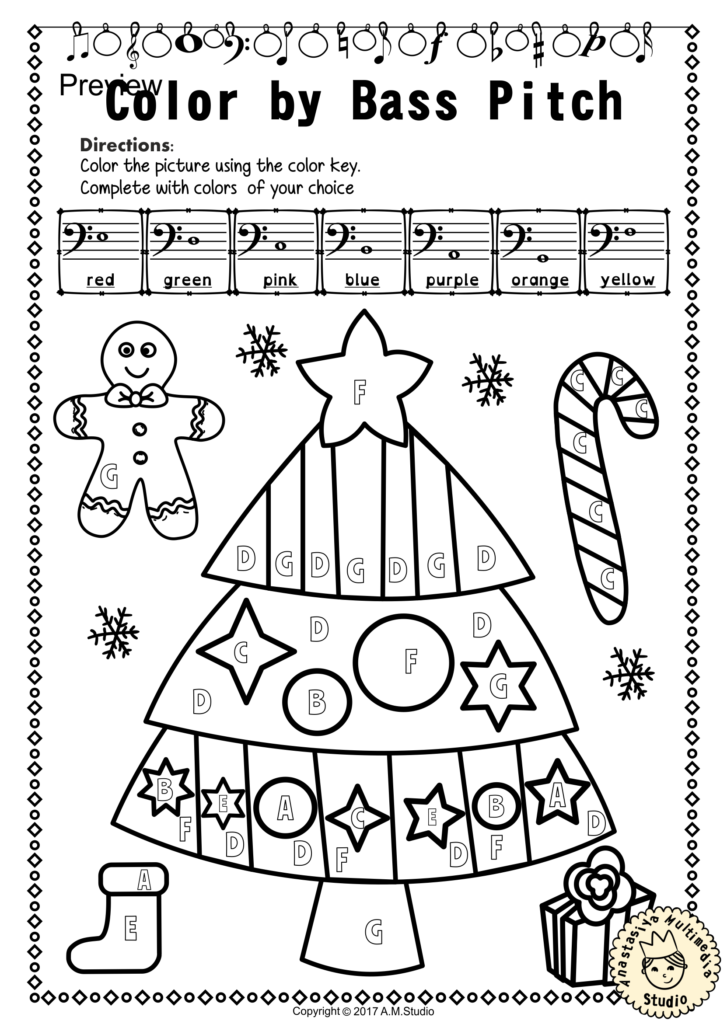 This Set Of 12 Music Worksheets Christmas Themed Is Designed