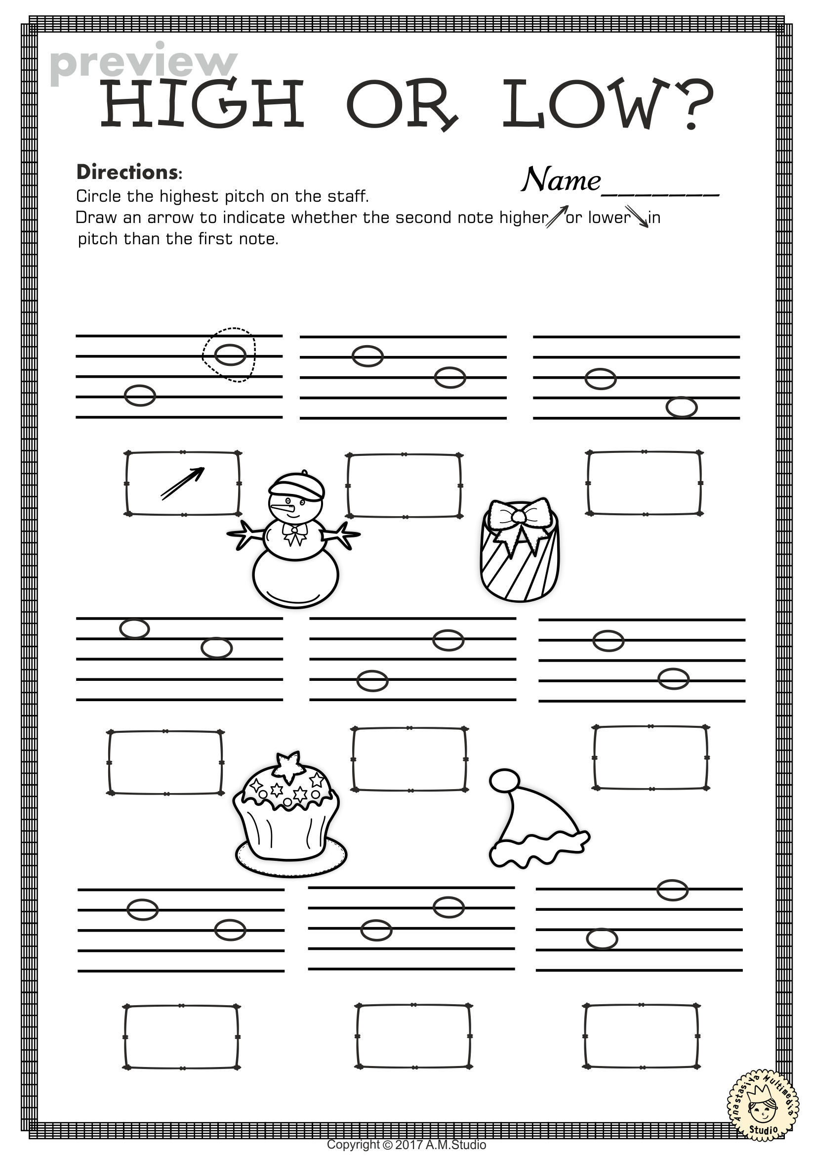 This Set Of 20 Music Worksheets Christmas Themed Is Designed